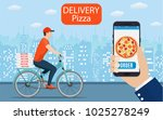 italian pizza delivery poster... | Shutterstock .eps vector #1025278249