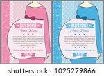 set of baby shower invitation... | Shutterstock .eps vector #1025279866