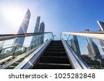 modern office building with... | Shutterstock . vector #1025282848