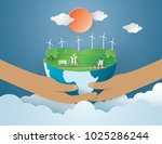 eco earth day and world... | Shutterstock .eps vector #1025286244