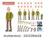 elderly man character... | Shutterstock .eps vector #1025286628