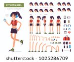 fitness  girl character... | Shutterstock .eps vector #1025286709