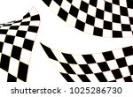 checkered racing flag isolated... | Shutterstock .eps vector #1025286730