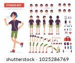 fitness  boy  character... | Shutterstock .eps vector #1025286769