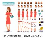 adult woman character... | Shutterstock .eps vector #1025287150