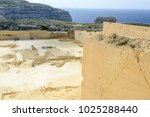 limestone quarry industry at... | Shutterstock . vector #1025288440