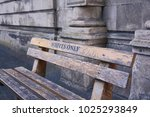 Small photo of White only bench in Cape Town