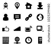 solid vector icon set   train... | Shutterstock .eps vector #1025299480