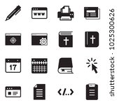 solid black vector icon set  ... | Shutterstock .eps vector #1025300626