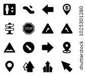 solid vector icon set  ... | Shutterstock .eps vector #1025301280