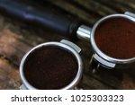espresso filter holder | Shutterstock . vector #1025303323