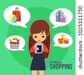 shopping illustration design | Shutterstock .eps vector #1025311750