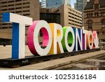 Colourful Toronto Sign At...