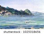 beautiful view of sea coast... | Shutterstock . vector #1025318656