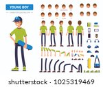 young  boy or teenager... | Shutterstock .eps vector #1025319469