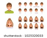lip sync collection for... | Shutterstock .eps vector #1025320033