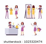 shopping assistant help... | Shutterstock .eps vector #1025320474