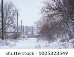 winter driving problems  snow... | Shutterstock . vector #1025323549