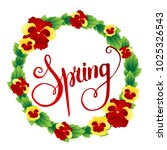 spring background with flowers. ... | Shutterstock .eps vector #1025326543