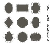 set of frames  shields with... | Shutterstock . vector #1025329060