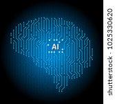 printed circuit board human... | Shutterstock .eps vector #1025330620