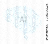 printed circuit board human... | Shutterstock .eps vector #1025330626