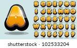 shiny yellow vector alphabet | Shutterstock .eps vector #102533204