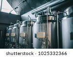 craft beer brewing equipment in ... | Shutterstock . vector #1025332366
