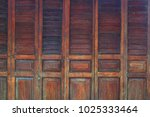 Small photo of Background texture of ancient accordion door.