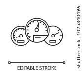 dashboard linear icon. thin... | Shutterstock .eps vector #1025340496