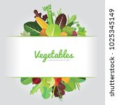 vegetables background design... | Shutterstock .eps vector #1025345149