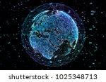 data exchange and global...   Shutterstock . vector #1025348713