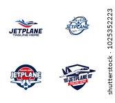 jet plane logo design   Shutterstock .eps vector #1025352223