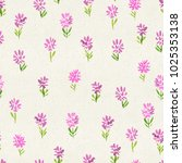 seamless watercolor floral... | Shutterstock . vector #1025353138