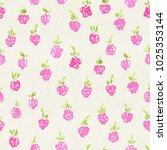 seamless watercolor pattern on... | Shutterstock . vector #1025353144