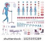 male nurse in blue uniform... | Shutterstock .eps vector #1025355289