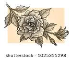 eye of providence. masonic...   Shutterstock .eps vector #1025355298