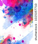 holi   abstract colorful happy... | Shutterstock .eps vector #1025357710