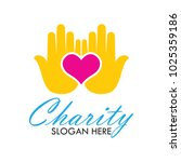 charity and care logo  emblems... | Shutterstock .eps vector #1025359186