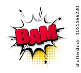 bam  pow  bang sound hand drawn ... | Shutterstock .eps vector #1025366230