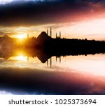istanbul sunset and birds   Shutterstock . vector #1025373694