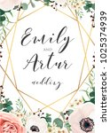 wedding elegant invite... | Shutterstock .eps vector #1025374939