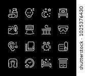 set line icons of sleep... | Shutterstock . vector #1025376430
