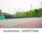 outdoor tennis court in midday... | Shutterstock . vector #1025377666