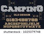 vintage font typeface... | Shutterstock .eps vector #1025379748
