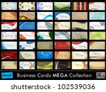mega collection of 42 abstract... | Shutterstock .eps vector #102539036