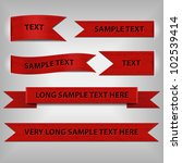 red ribbons with sample text | Shutterstock .eps vector #102539414