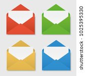 colored envelopes set | Shutterstock .eps vector #1025395330