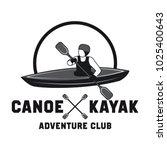 canoeing and kayaking sport... | Shutterstock .eps vector #1025400643