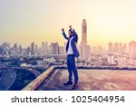 successful western businessman... | Shutterstock . vector #1025404954